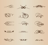 Vector Vintage Calligraphic Design Elements