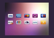 10 Ecommerce Credit Card Icons Set PSD