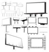 Variety Of Types Of Outdoor Billboard Template