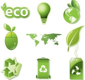 Vector Set Of Global Eco