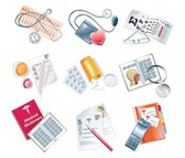 27 Medical Devices Vector Icons Set