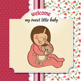 Cartoon baby card 01