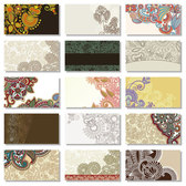 Beautiful pattern card background vector-1