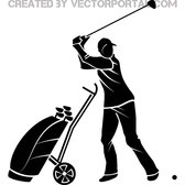 GOLF PLAYER VECTOR IMAGE.eps