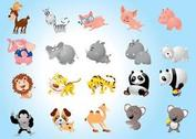 Dibujos animados animal Pack