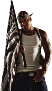 young jeezy with black flag PSD