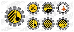 Road maintenance material vector icon