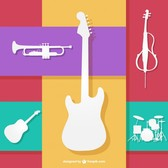 Colorfull musical instruments