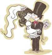 Handpainted Version Of The Bride And Groom 03