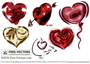 Free Valentine's Love Heart Vector Set-2