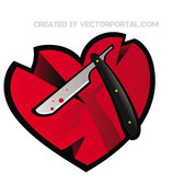 WOUNDED HEART VECTOR.eps