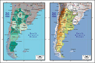 Vector Map Of The World Exquisite Material - Argentina Map