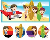 Surfing sport vector 8