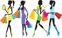 Fashion Shopping filles Illustration