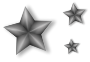 3 Metal Stars with Transparency