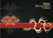 Calendar Year of the Dragon background 01