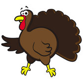 WORRIED TURKEY VECTOR GRAPHICS.eps