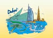 Dubai Travel Graphic