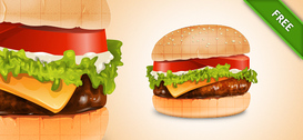Hamburger gratis PSD Graphics