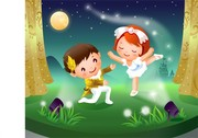 2 Children Dancing Motion