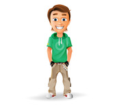 Smiling Boy Vector Character