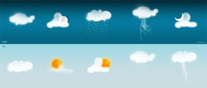 10 Weather Conditions Graphics PSD