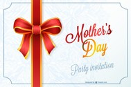 Mother's day party invitation