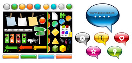 Web Design Element Vector Graphic Commonly Used Buttons