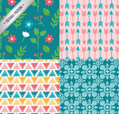 4 cartoon pattern seamless background