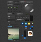 Amazing Dark Web UI Elements Vector Pack