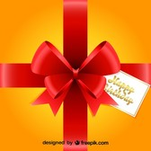 Red Ribbon Gift Design