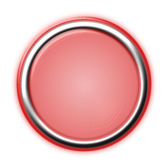 Red Button with Internal Light and Glowing Bezel