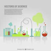 Science tubes set experiment background