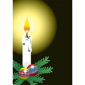 White Candle Flame Vector art