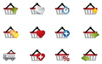 practical shopping basket icon