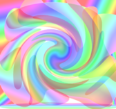 abstract rainbow swirl PSD