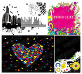 Heart-Shaped Vector Graphic And Other Elements Of Urban Tre