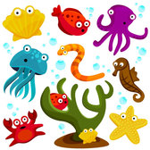 Cartoon marine animals 01