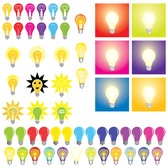 Gratis Vector Set: Light Bulbs