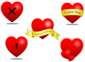 Vector Heart Icons Free