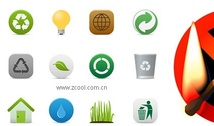 Environmental protection and the prohibition of fire icon