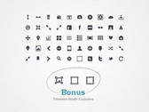 50 Simple Glyph Icons Pack PNG/CSH
