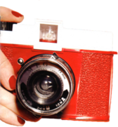 Retro Camera Held PSD