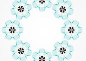 Free Abstract Flower Circle