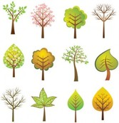 Stock Vector Trees Set1