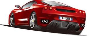 Free Illustrated Ferrari