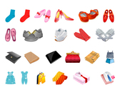 Footwear Gloves, Scarves And Other Clothing Purse Vector Mat