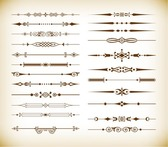 Vector Set of Vintage Design Divider Elements