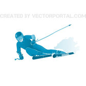 SKIER VECTOR IMAGE.ai