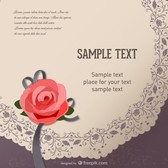 retro rose card text template